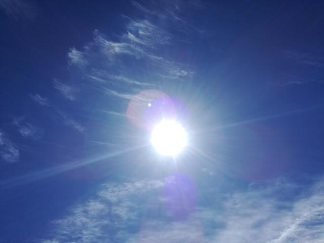 空が青くて、キレイで、想像も楽しくて、気持ちよすぎる♪
